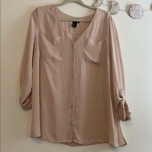 {H&M Mama} blush blouse